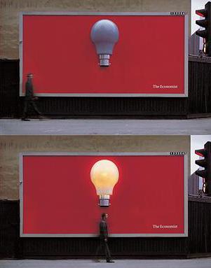 Журнал «Экономист» всегда подскажет верное решение. Специальные сенсоры, реагирующие на движение, включают лампочку - «идею» на головой каждого прохожего.