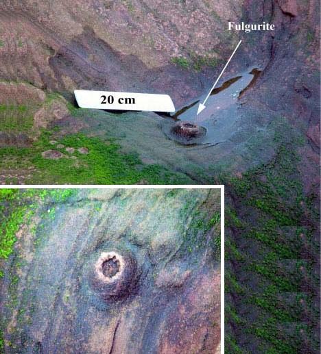 Ископаемые фульгуриты, найденные археологами