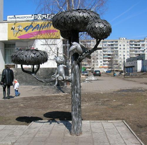 Воронеж. Памятник Котенку с улицы Лизюкова