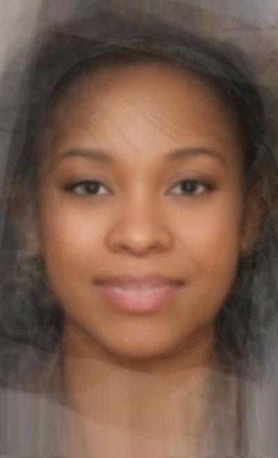 Средняя афроамериканская женщина