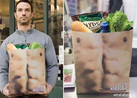Этот продуманный пакет напомнит вам о принципах здорового питания и активного образа жизни. Ну, или можете просто носить его перед собой, куда бы не пошли