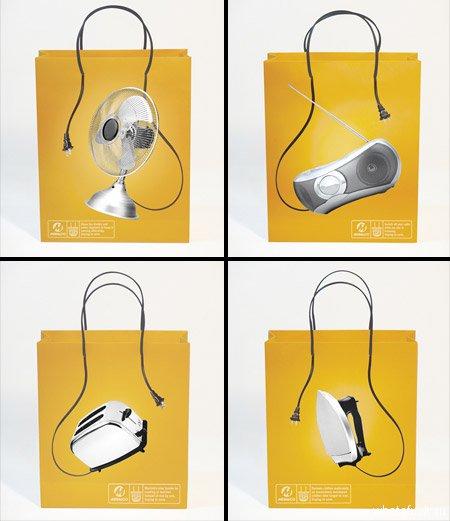 Забавные пакеты от энергетической компании Meralco. Без электричества сегодня никуда!