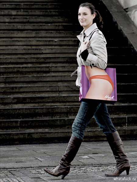 Такие креативные пакеты были созданы специально для магазина нижнего белья Blush в Берлине, Германия.
