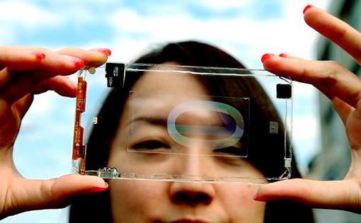 Первый в мире прототип прозрачного смартфона