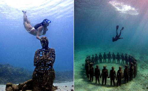 рис.13. Подводный музей в Мексике