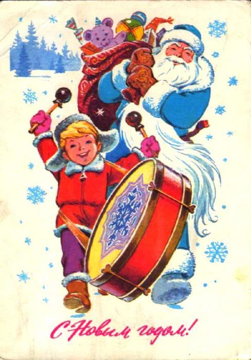 рис.9. Старые Советские Новогодние открытки