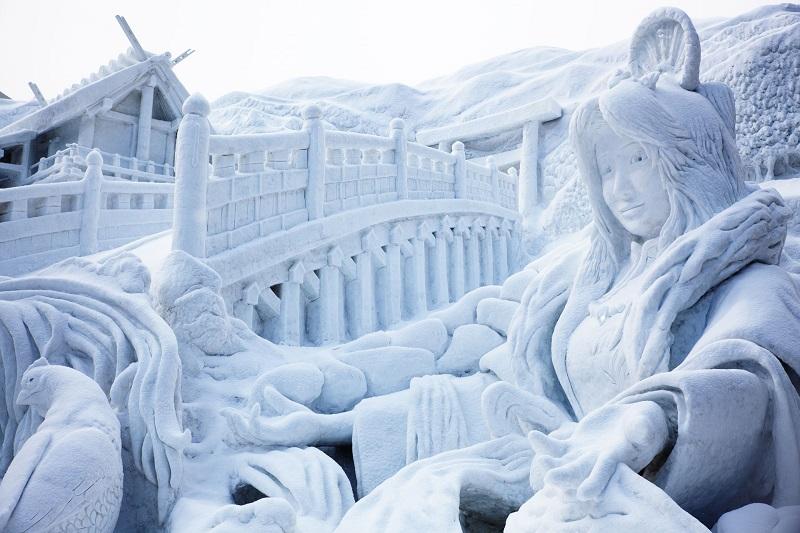 рис.1. Снежный фестиваль в Саппоро в Японии
