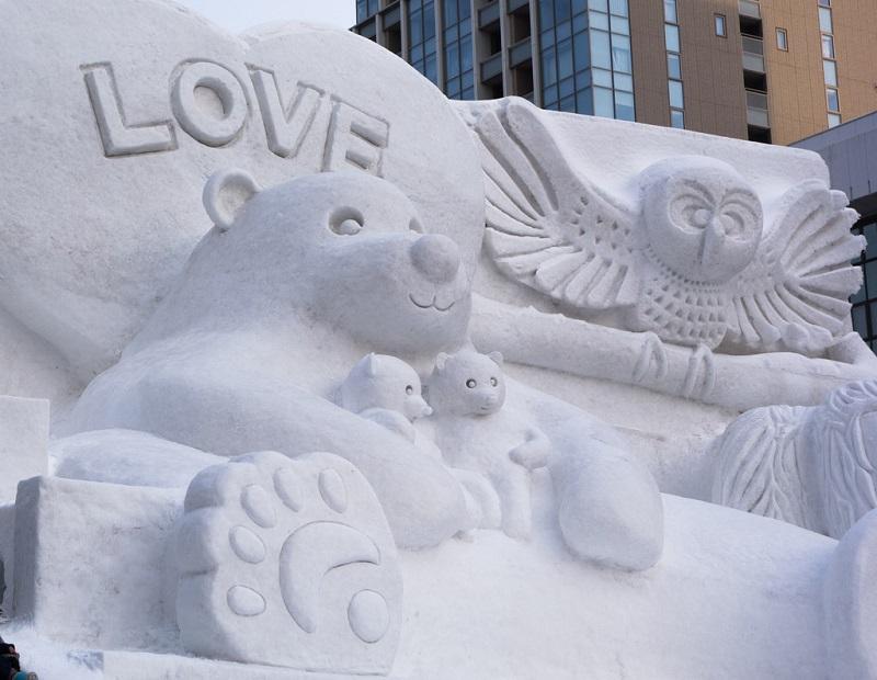 рис.23. Снежный фестиваль в Саппоро в Японии