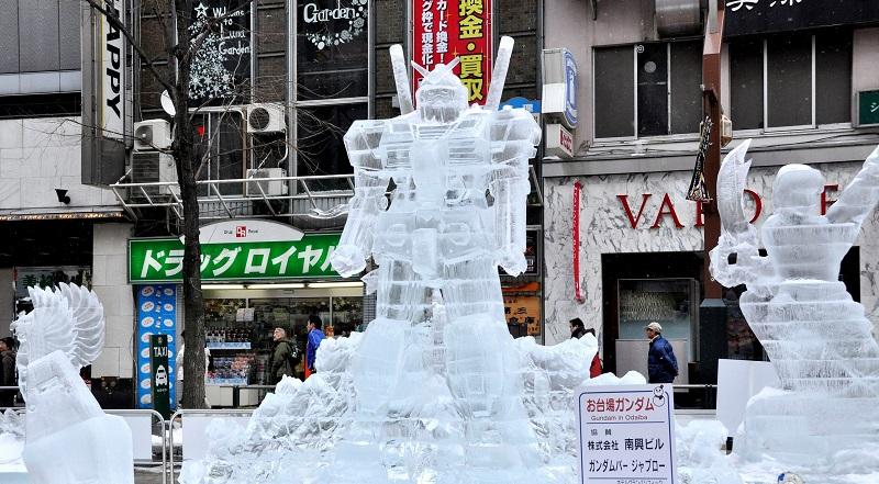 рис.3. Снежный фестиваль в Саппоро в Японии