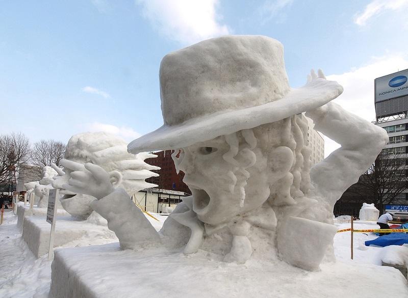 рис.13. Снежный фестиваль в Саппоро в Японии
