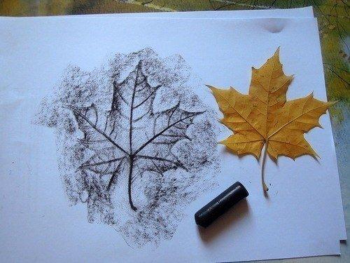 Как очень просто и красиво нарисовать осенние листья