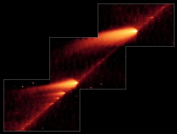 Разваливающаяся комета: Рис.1