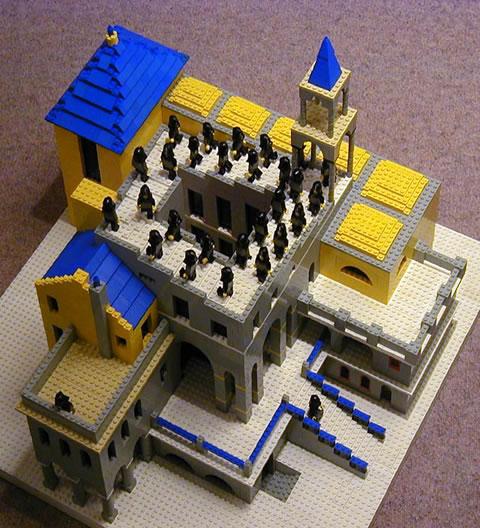 Гравюры Эшера в LEGO: Рис.1