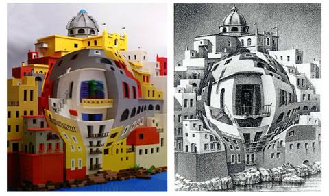 Гравюры Эшера в LEGO: Рис.2
