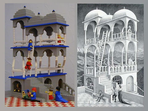 Гравюры Эшера в LEGO: Рис.3
