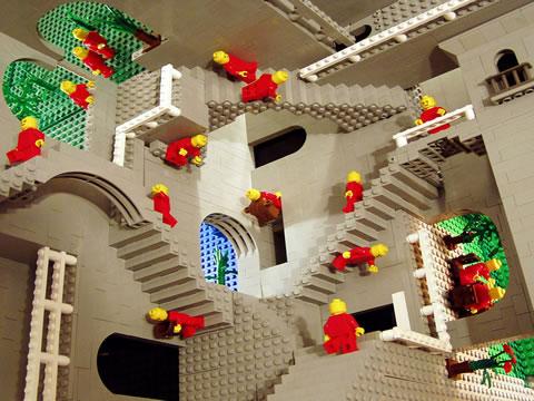 Гравюры Эшера в LEGO: Рис.4