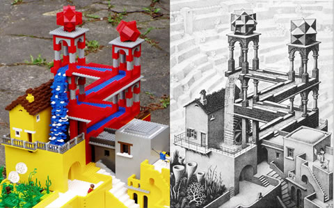 Гравюры Эшера в LEGO: Рис.5