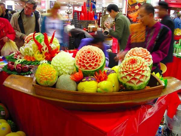 Карвинг – резьба по овощам и фруктам