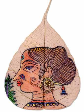 Роспись по листям: Рис.10