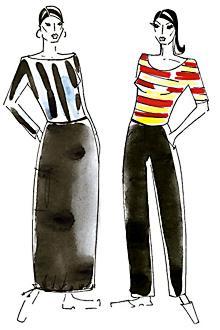 Зрительные иллюзии в одежде: Рис.2