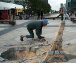 Объемный стрит-арт Street Painting (Madonnari на итальянском)