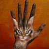 Звери, нарисованные на руках