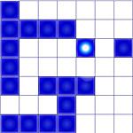Уничтожь все кубики синим шариком