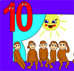 10 обезьянок поиграть бесплатно