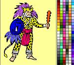 Древний воин - разукраска поиграть бесплатно