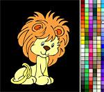 Лев из мультика