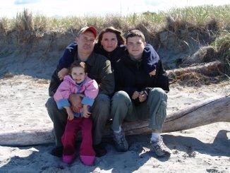 Randy Hann с семьей