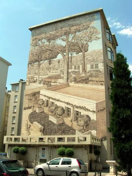 Рисунки на стенах домов: Рис.2