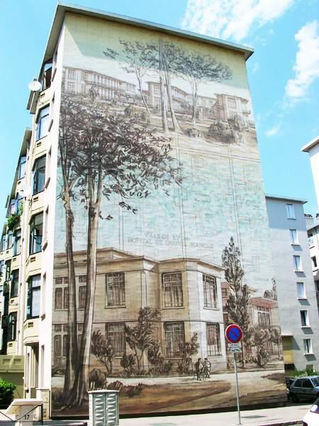 Рисунки на стенах домов: Рис.8