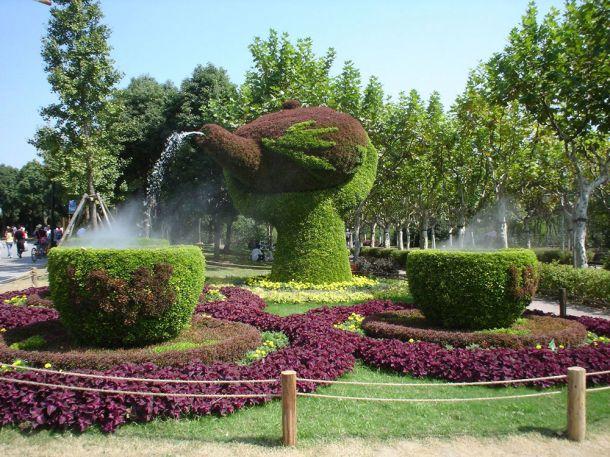Скульптуры и фигуры из цветов: Рис.14