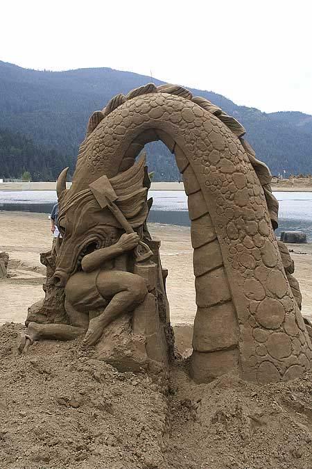 Скульптуры из  песка: Рис.4