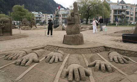Скульптуры из  песка: Рис.6