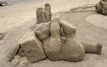 Скульптуры из  песка: Рис.10