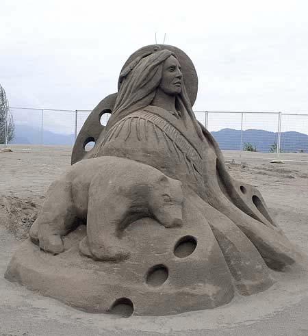 Скульптуры из  песка: Рис.15