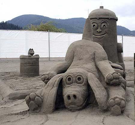 Скульптуры из  песка: Рис.24