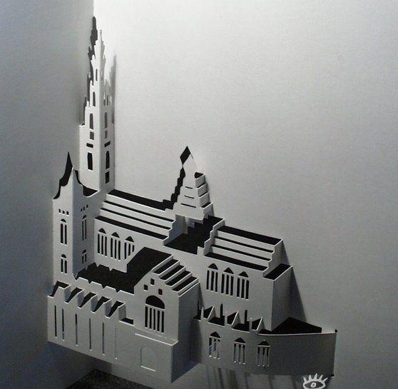 Объемные пазлы (18 фото).  Объемные 3D-рисунки (14 гифок).