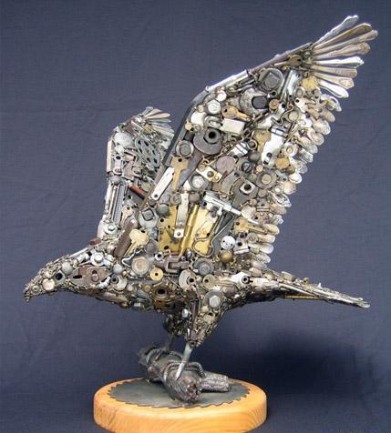 Птицы и рыбы из железных предметов: Рис.1
