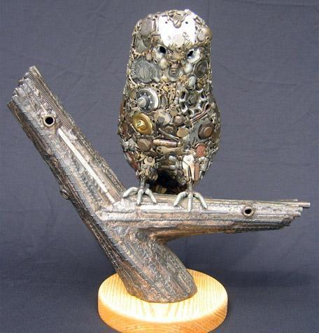 Птицы и рыбы из железных предметов: Рис.4