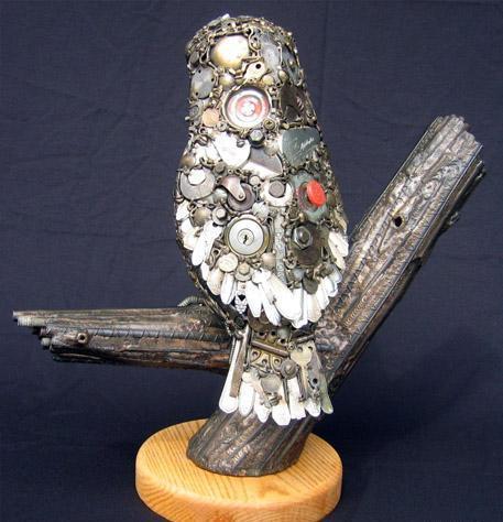 Птицы и рыбы из железных предметов: Рис.5