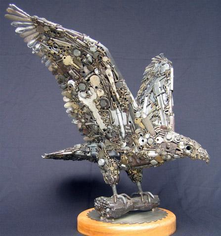 Птицы и рыбы из железных предметов: Рис.11