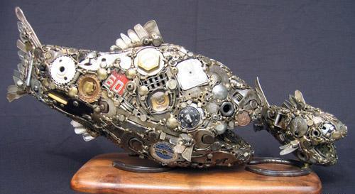 Птицы и рыбы из железных предметов: Рис.15