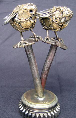 Птицы и рыбы из железных предметов: Рис.17
