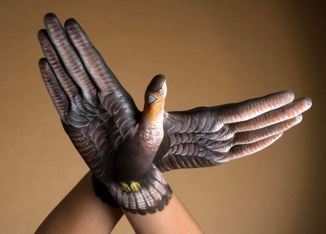 Звери, нарисованные на руках: Рис.3