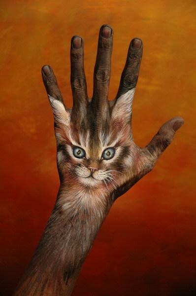 Звери, нарисованные на руках: Рис.14