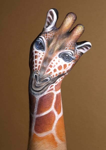 Звери, нарисованные на руках: Рис.16