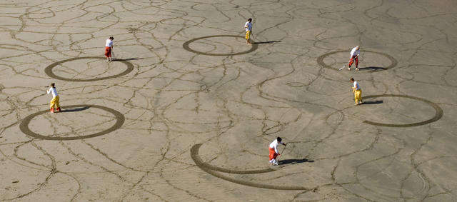 Рисунки на песке: Рис.2
